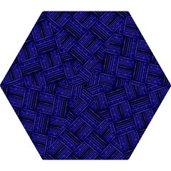 Cobalt Blue Weave Texture Mini Folding Umbrellas