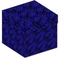 Cobalt Blue Weave Texture Storage Stool 12
