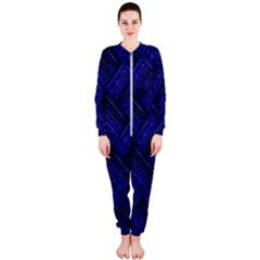 Cobalt Blue Weave Texture Onepiece Jumpsuit (ladies)