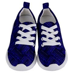 Cobalt Blue Weave Texture Kids  Lightweight Sports Shoes