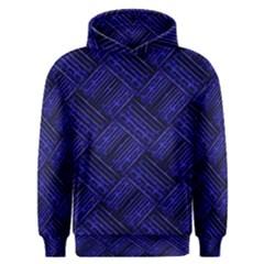 Cobalt Blue Weave Texture Men s Overhead Hoodie