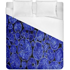 Neon Abstract Cobalt Blue Wood Duvet Cover (california King Size)