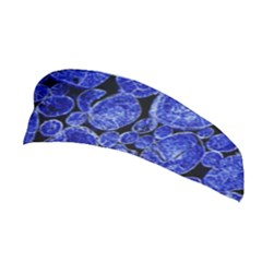 Neon Abstract Cobalt Blue Wood Stretchable Headband