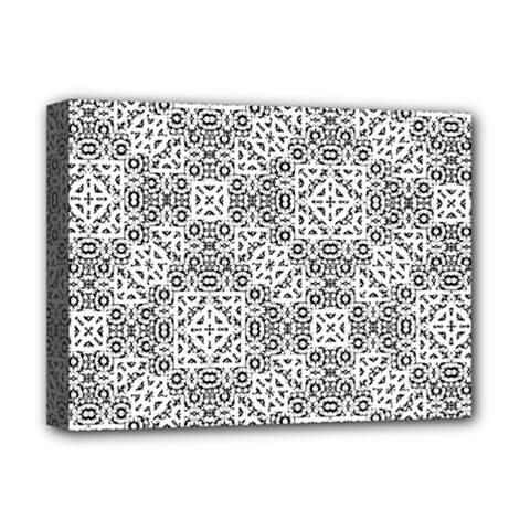 Black And White Oriental Ornate Deluxe Canvas 16  X 12   by dflcprints