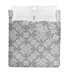Black And White Oriental Ornate Duvet Cover Double Side (full/ Double Size) by dflcprints