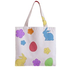 Easter Patches  Zipper Grocery Tote Bag by Valentinaart