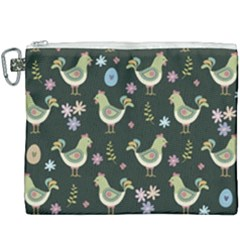 Easter Pattern Canvas Cosmetic Bag (xxxl) by Valentinaart