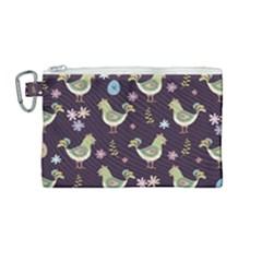 Easter Pattern Canvas Cosmetic Bag (medium) by Valentinaart