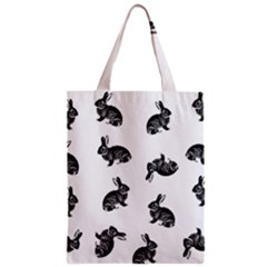 Rabbit Pattern Zipper Classic Tote Bag by Valentinaart