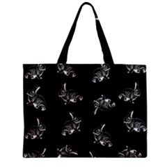 Rabbit Pattern Zipper Mini Tote Bag by Valentinaart