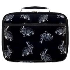 Rabbit Pattern Full Print Lunch Bag by Valentinaart