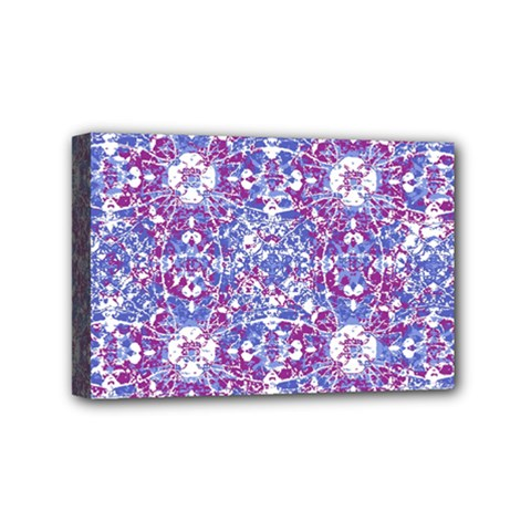 Cracked Oriental Ornate Pattern Mini Canvas 6  X 4  by dflcprints