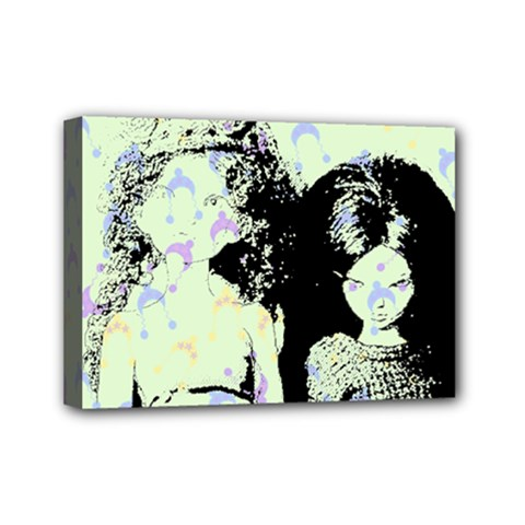 Mint Wall Mini Canvas 7  x 5