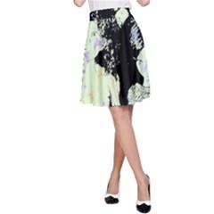 Mint Wall A-Line Skirt