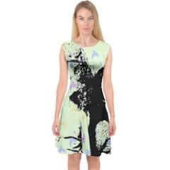 Mint Wall Capsleeve Midi Dress