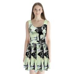 Mint Wall Split Back Mini Dress