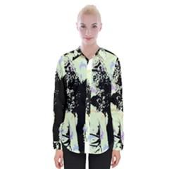 Mint Wall Womens Long Sleeve Shirt