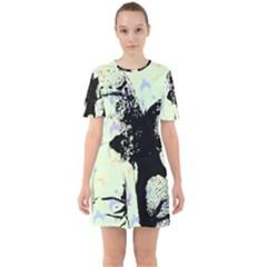 Mint Wall Sixties Short Sleeve Mini Dress