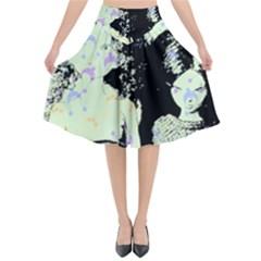 Mint Wall Flared Midi Skirt by snowwhitegirl