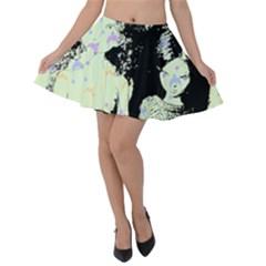 Mint Wall Velvet Skater Skirt