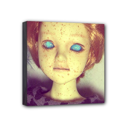 Freckley Boy Mini Canvas 4  X 4  by snowwhitegirl