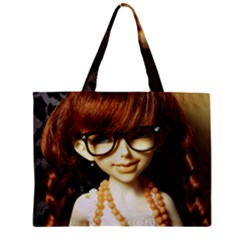 Red Braids Girl Zipper Mini Tote Bag by snowwhitegirl