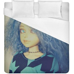 Blue Hair Boy Duvet Cover (king Size) by snowwhitegirl