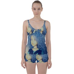 Blue Hair Boy Tie Front Two Piece Tankini by snowwhitegirl