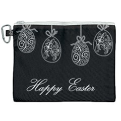 Easter Eggs Canvas Cosmetic Bag (xxl) by Valentinaart
