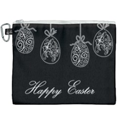 Easter Eggs Canvas Cosmetic Bag (xxxl) by Valentinaart