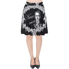 Edgar Allan Poe    Never More Velvet High Waist Skirt by Valentinaart
