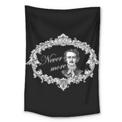 Edgar Allan Poe    Never More Large Tapestry by Valentinaart