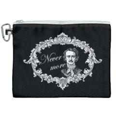 Edgar Allan Poe    Never More Canvas Cosmetic Bag (xxl) by Valentinaart
