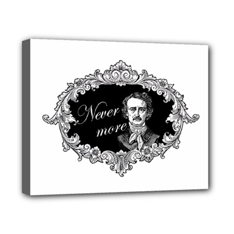 Edgar Allan Poe    Never More Canvas 10  X 8  by Valentinaart
