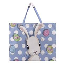 Easter Bunny  Zipper Large Tote Bag by Valentinaart