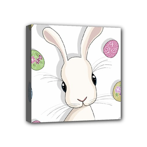 Easter Bunny  Mini Canvas 4  X 4  by Valentinaart