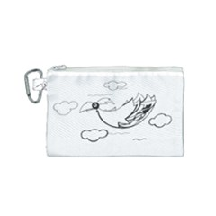 Bird Canvas Cosmetic Bag (small) by ValentinaDesign