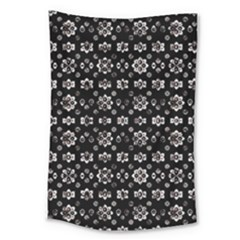 Dark Luxury Baroque Pattern Large Tapestry by dflcprints