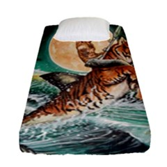 Tiger Shark Fitted Sheet (single Size) by redmaidenart