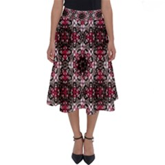 Oriental Ornate Pattern Perfect Length Midi Skirt by dflcprints