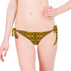 Stars And Wooden Flowers In Blooming Time Bikini Bottom