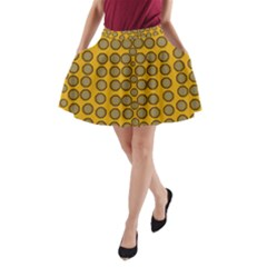 Stars And Wooden Flowers In Blooming Time A Line Pocket Skirt by pepitasart