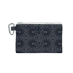 Dark Ethnic Sharp Pattern Canvas Cosmetic Bag (small) by dflcprints