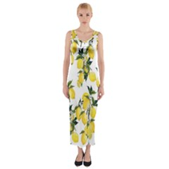 Lemons Fitted Maxi Dress