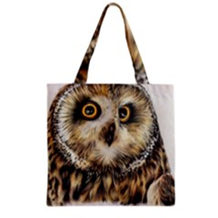 Owl Gifts Grocery Tote Bag by ArtByThree