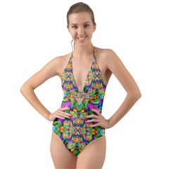 Pattern 854 Halter Cut Out One Piece Swimsuit
