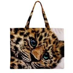 Jaguar Cub Zipper Mini Tote Bag by ArtByThree