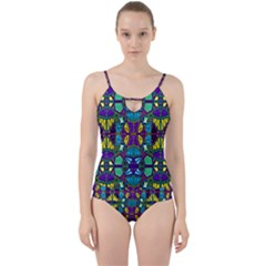 P 841 Cut Out Top Tankini Set