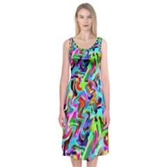 Artwork By Patrick Pattern 9 Midi Sleeveless Dress