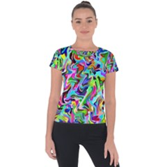 Artwork By Patrick Pattern 9 Short Sleeve Sports Top